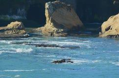Depoe-Bucht-Ablenkung - Oregon-Zentralküste Stockfotos
