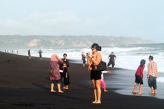 Depok beach Stock Photo