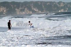 Depok beach Stock Images