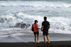 Depok beach Royalty Free Stock Images