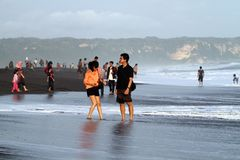 Depok beach Stock Photos