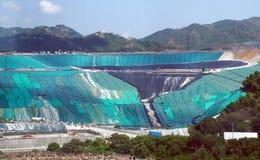 Deponiegelände im Abfall zum Energieumsetzungs-Park Lizenzfreies Stockfoto