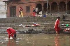 deponować pieniądze świętą rzekę Zdjęcie Stock
