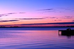 deponować pieniądze zewnętrznego wschód słońca Zdjęcia Royalty Free