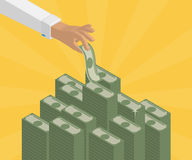 Deponować pieniądze depozyty Obrazy Stock