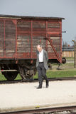 Deportation wagon at Auschwitz Birkenau Royalty Free Stock Photography