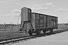 Deportation wagon at Auschwitz Birkenau Royalty Free Stock Photos