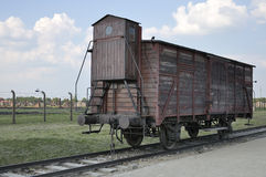 Deportation wagon at Auschwitz II Birkenau Royalty Free Stock Photography