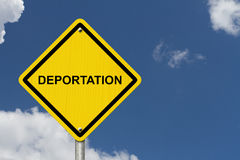 Deportation Warning Sign Stock Images