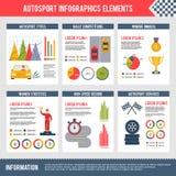 Deporte auto Infographics stock de ilustración