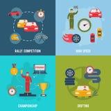Deporte auto plano stock de ilustración