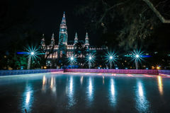 Deporte común Viena Cityhall del hielo Imagenes de archivo