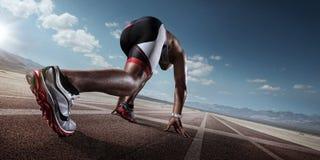 Deporte corredor imagenes de archivo