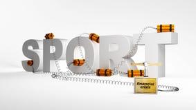 Deporte, crisis Imagen de archivo libre de regalías
