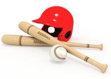 Deporte 3D del béisbol Foto de archivo