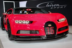 Deporte de Bugatti Chiron imágenes de archivo libres de regalías