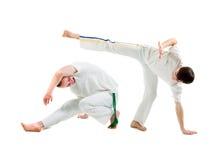 Deporte de contacto. Capoeira. Imagenes de archivo