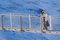 Deporte de Extreeme en las montan@as europeas Fotografía de archivo libre de regalías