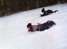 Deporte de invierno de los cabritos Imágenes de archivo libres de regalías