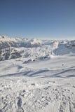Deporte de invierno en el centro turístico austríaco Montafon Imagen de archivo libre de regalías
