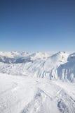 Deporte de invierno en el centro turístico austríaco Montafon Imagen de archivo