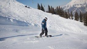 Deporte de invierno en el centro turístico austríaco Montafon Imagenes de archivo