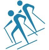 Deporte de invierno - icono del esquí de fondo Foto de archivo