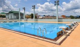 Deporte de la piscina fotografía de archivo