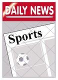 Deporte de los periódicos Imagen de archivo libre de regalías