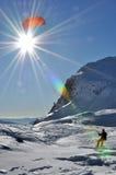 Deporte de Snowkiting Fotos de archivo libres de regalías
