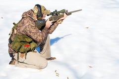 Deporte del arma de fuego del invierno Imagenes de archivo