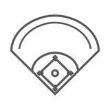 Deporte del béisbol del diamante del campo Fotos de archivo