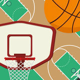 Deporte del baloncesto stock de ilustración