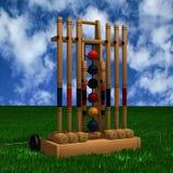 Deporte del croquet Foto de archivo libre de regalías