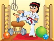 Deporte e imagen 4 del tema del gimnasio Imágenes de archivo libres de regalías