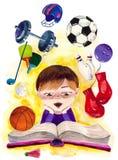 Deporte en mí stock de ilustración