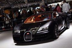 Deporte estupendo 2011 de Bugatti del â de la demostración de motor de Ginebra Fotografía de archivo