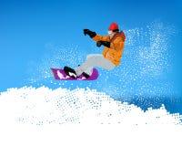 Deporte extremo de Skiing.Winter libre illustration