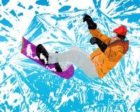 Deporte extremo de Skiing.Winter ilustración del vector