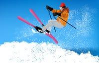 Deporte extremo de Skiing.Winter stock de ilustración