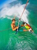 Deporte extremo, Kiteboarding Imagen de archivo