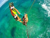 Deporte extremo, Kiteboarding Imágenes de archivo libres de regalías