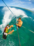 Deporte extremo, Kiteboarding Foto de archivo