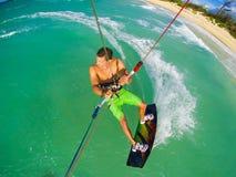 Deporte extremo, Kiteboarding Foto de archivo libre de regalías
