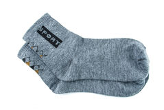 Deporte gris del calcetín Imagenes de archivo