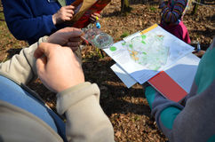 Deporte orienteering Imágenes de archivo libres de regalías