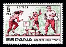Deporte para todos Asalte el curso, serie de los deportes, circa 1979 Imagen de archivo libre de regalías