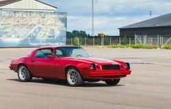 Deporte rojo 1976 de Chevrolet Camaro Foto de archivo libre de regalías