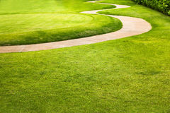 Deporte verde del campo de golf, días de fiesta golfing imagen de archivo libre de regalías