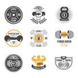 Deporte y aptitud Logo Templates, logotipos del gimnasio stock de ilustración